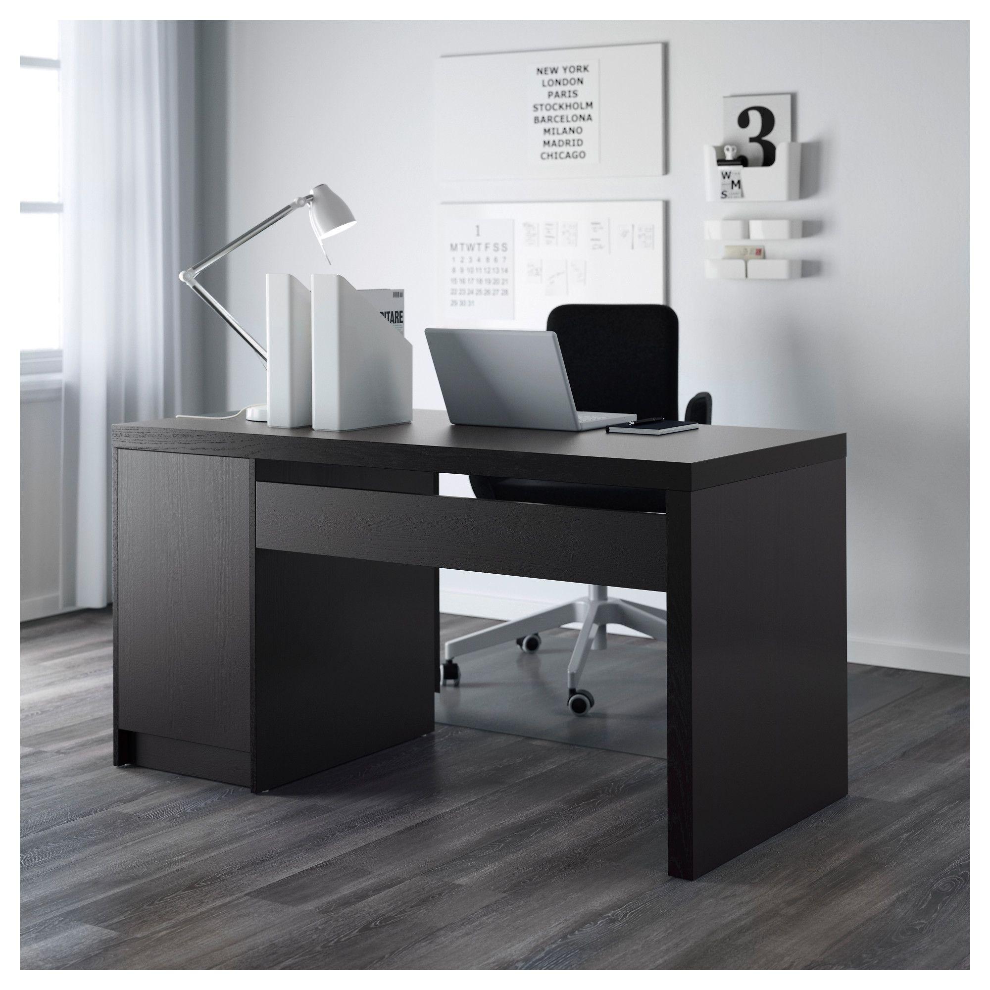 Ikea Malm Desk Black Brown In 2019 Products Ikea