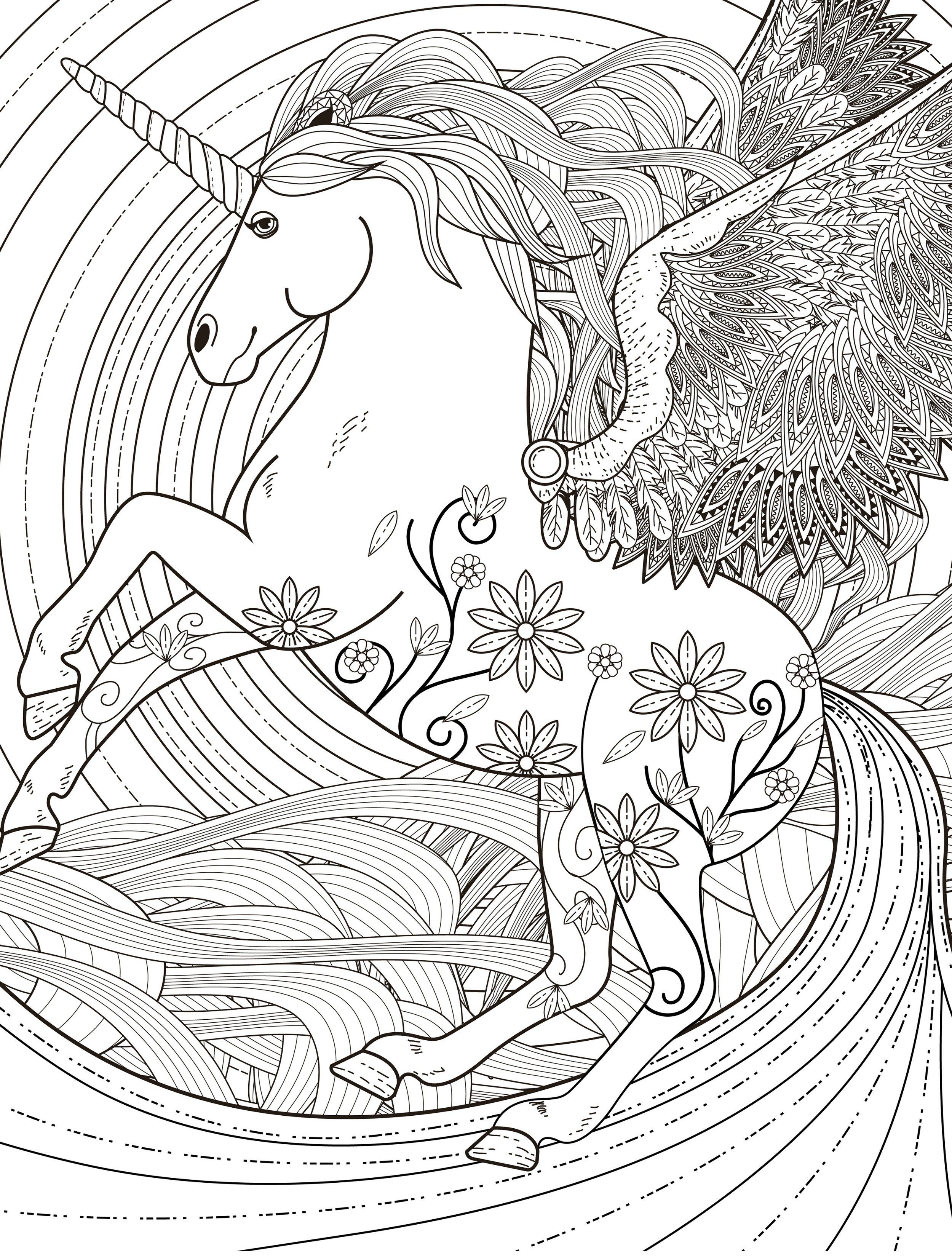 pegasus adult coloring page free download Davlin
