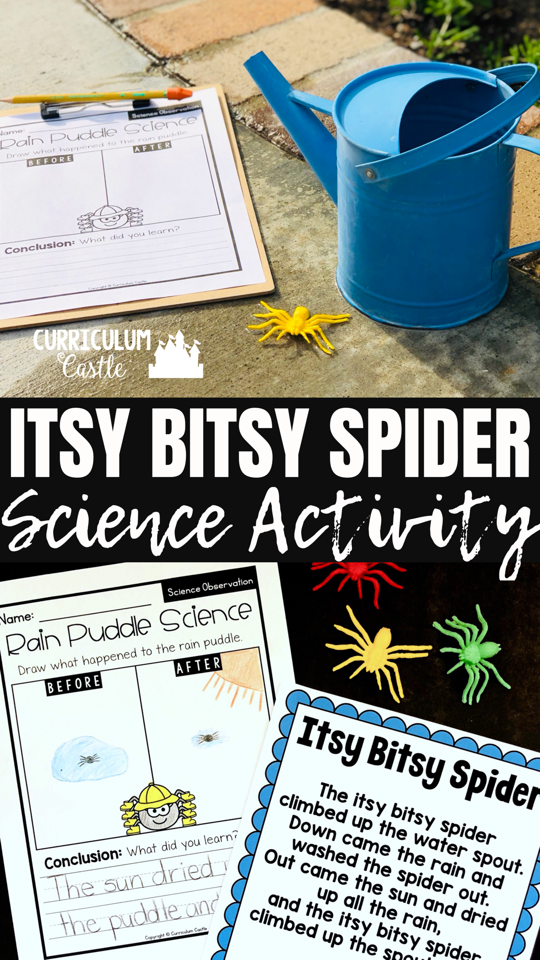 Nursery Rhymes Itsy Bitsy Spider Activities In