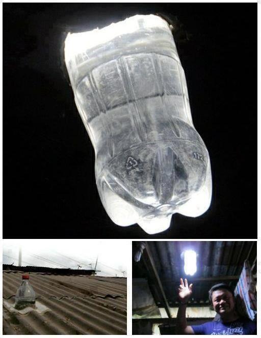 Sabías qué con una botella de plástico, agua y un poco de cloro puedes lograr hacer luz equivalente a un foco de 55 watts