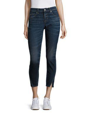 AMO Twist Skinny Ankle Jeans. #amo #cloth #jeans