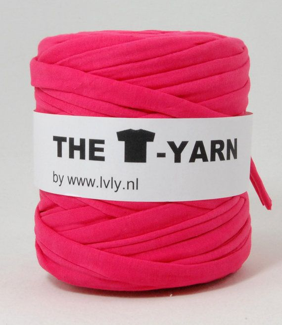 The t-shirt yarn is a unique yarn and a great material, with wich you can knit or crochet. Its the same quality we always carried only with a