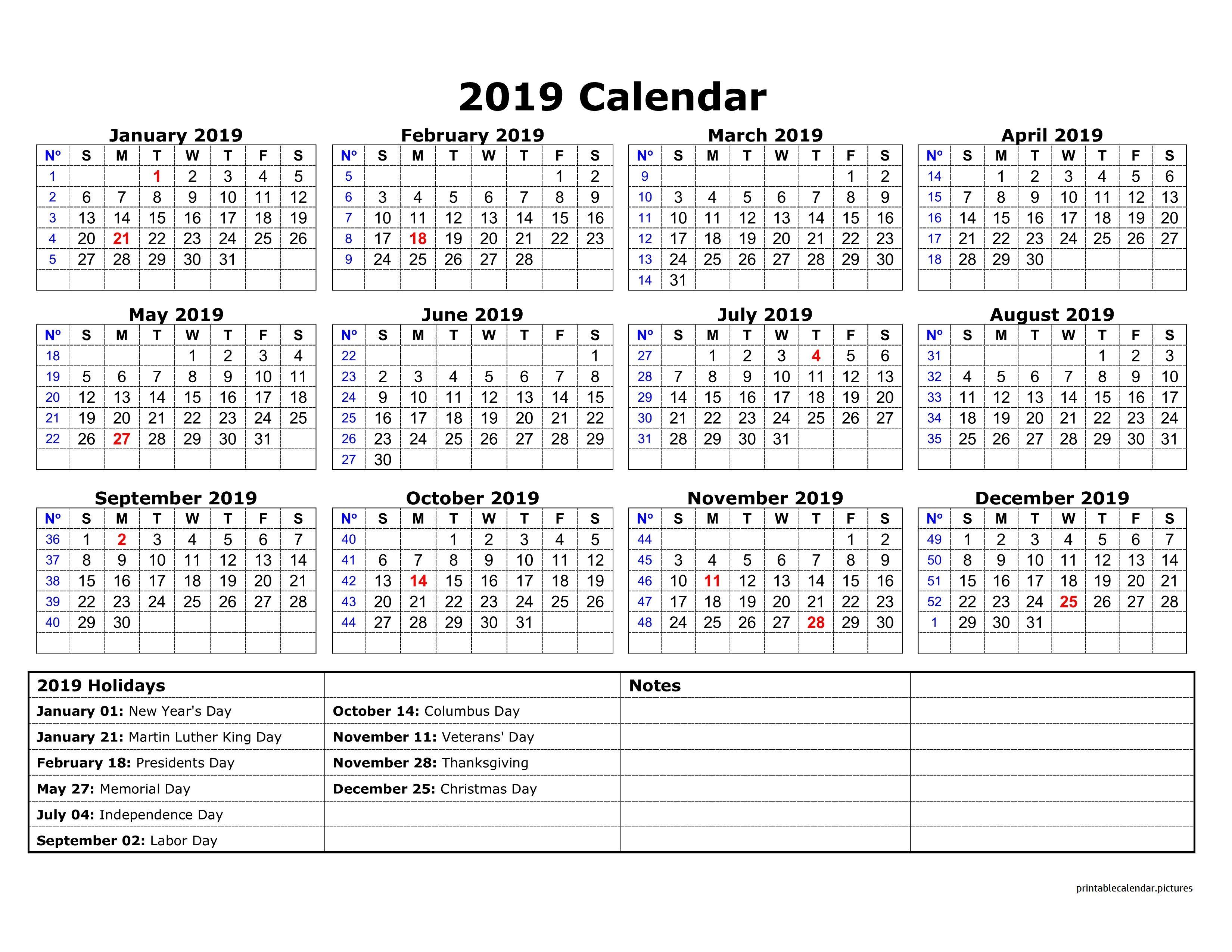 2019 Calendar Holidays Australia Calendar printables