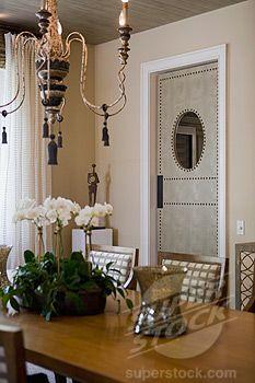 Dining room swinging doors