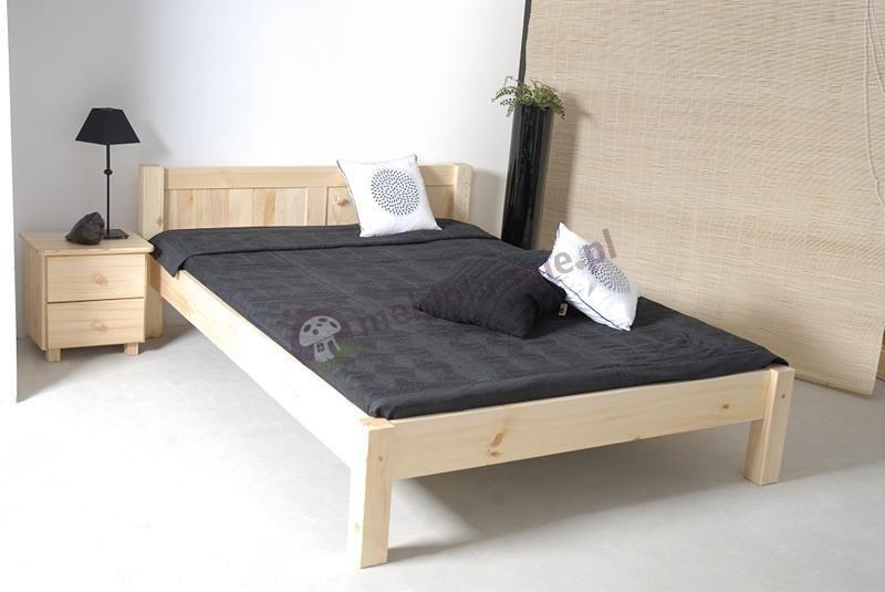 łóżko Białe 140x200 Z Materacem łóżko Dwuosobowe Wysuwane