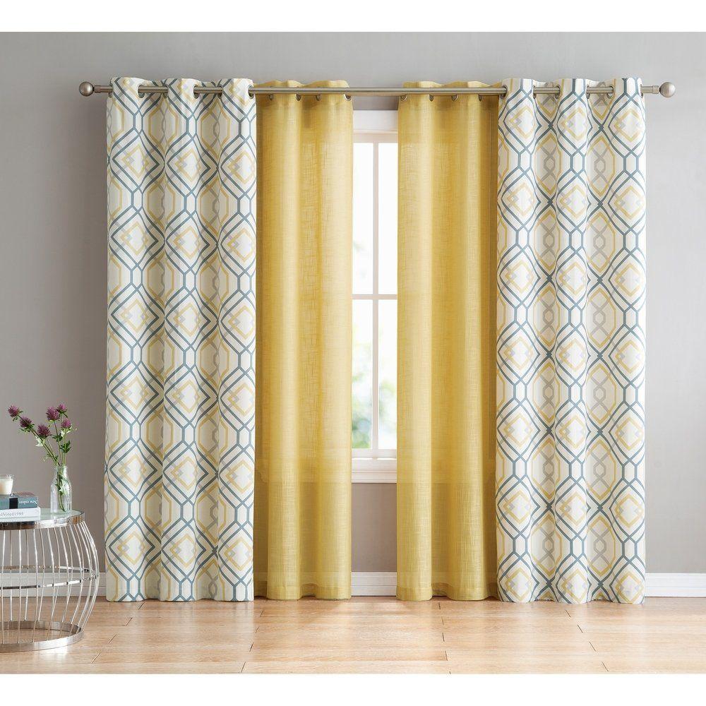 Vcny Home Jackston 4 Piece Curtain Panel Set Cortinas Para