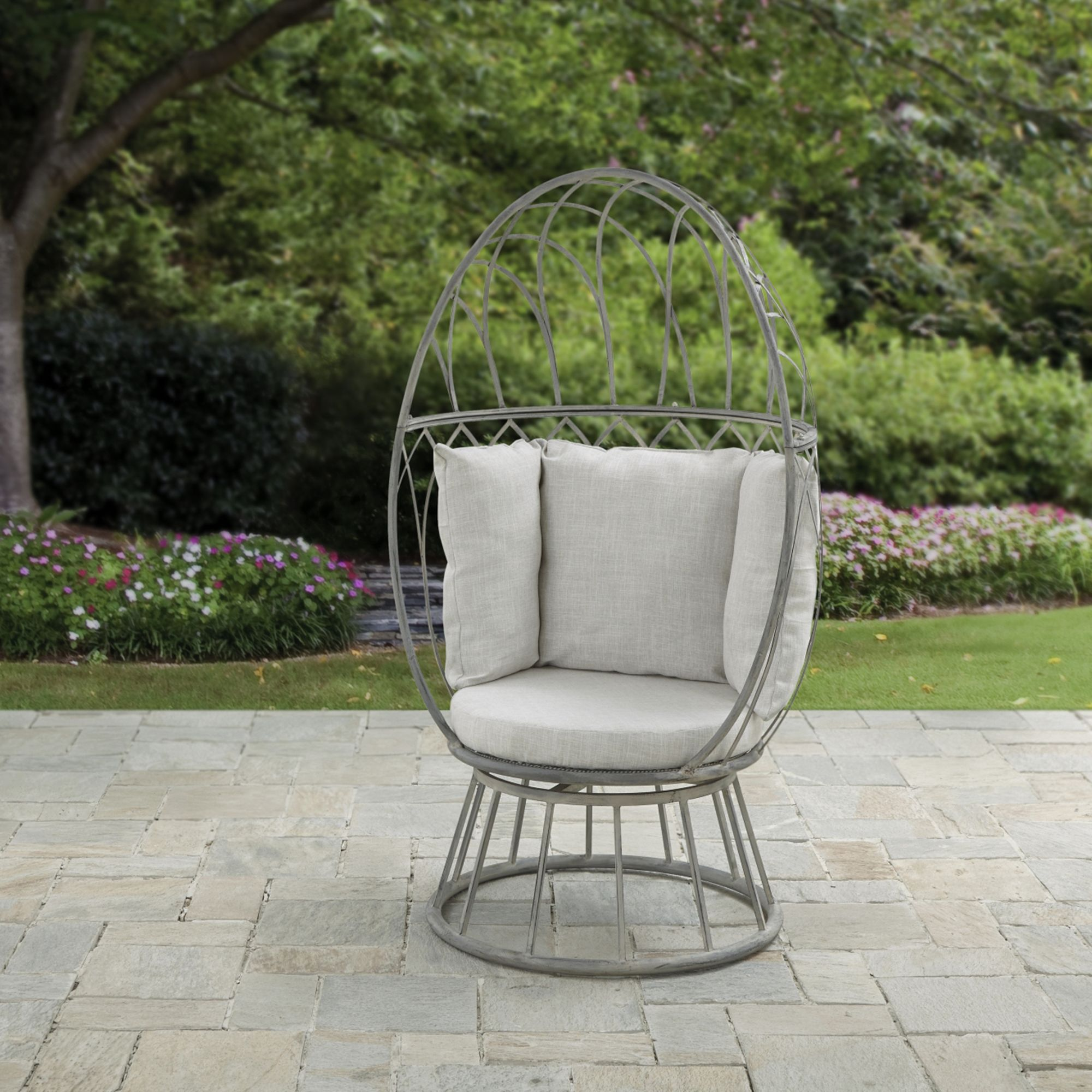 Florence Grey Swivel Chair Grey swivel chairs, Garden