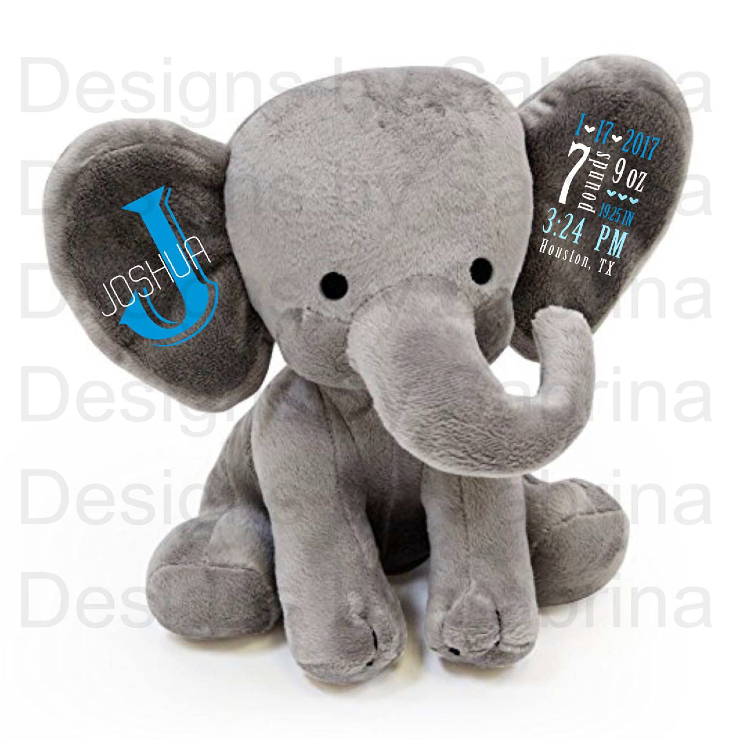 Personalized elephant personalized baby gift baby shower gift baby personalized elephant personalized baby gift baby shower gift baby gift plush elephant negle