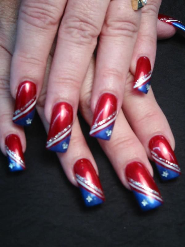 1000 Images About Red White And Blue Nails On Pinterest Nail Art Designs  Red White Blue And 4th Of July Nails - Easy Valentines Day Red And White Nail Art Design Youtube. Simple