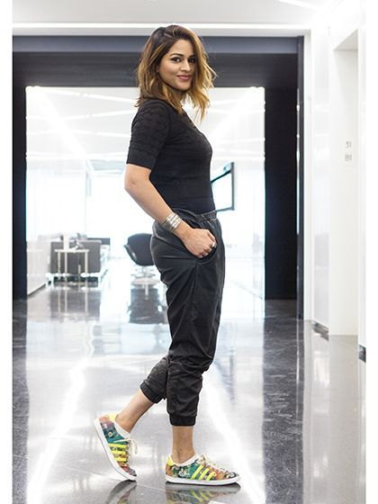 de80c73ba2c How to Wear Sneakers to Work - Shyema Azam