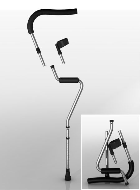 Foldable Crutches for better Mobility and Comfort | design ...