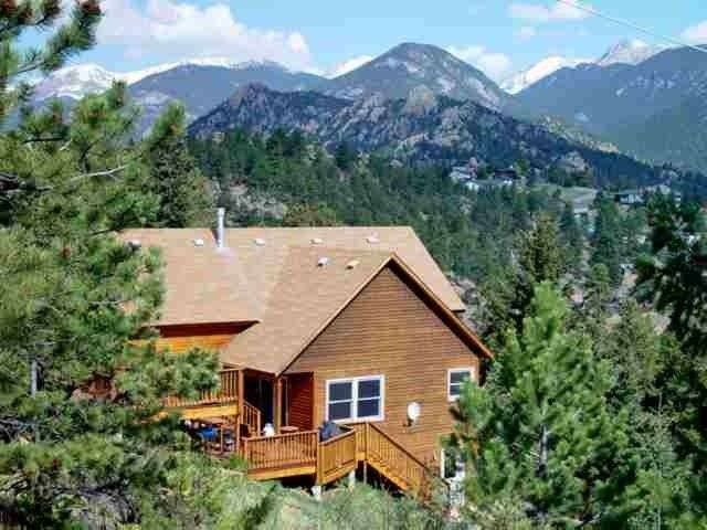 Estes Mountain Home Panoramic Lake Views Private Location Hot Tub Vacation Rental In Park From