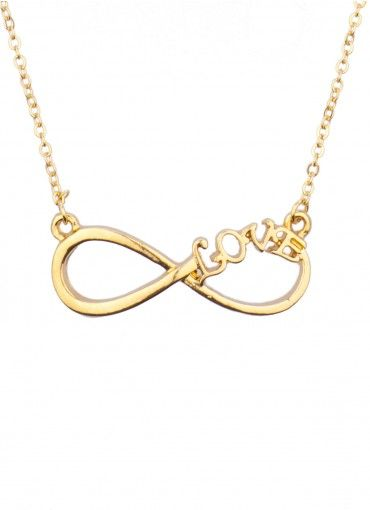 c7322189f81f Infinite Love Necklace Gold Collar De Amor