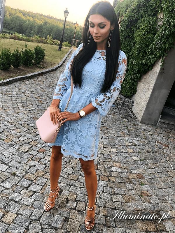 a939a47270  sukienka  koronkowasukienka  błękitnasukienka  sukienkanachrzciny   sukienkanakomunię  chrzest  komunia  dress  lacedress  bluedress   christeningdress ...