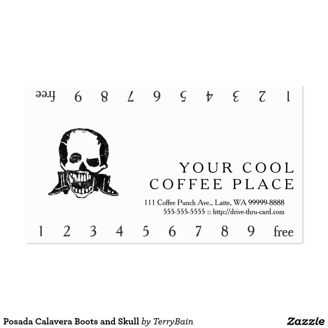 Posada calavera boots and skull business card magicingreecefo Choice Image