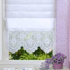Risultati immagini per tende lino e uncinetto per cucina ...