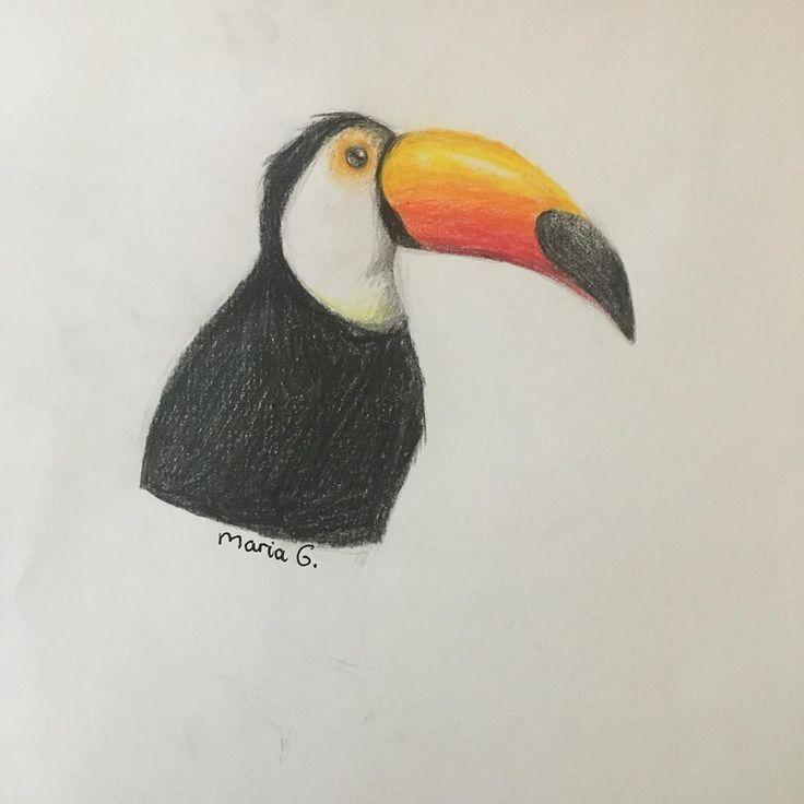 ~ 🌿Dessin de dessin de 30 jours🌿 ~ * 🌿Jour 1 ~ Dessinez un animal que vous n'avez jamais dessiné auparavant🌿 *! Dessin de Toucan! #Draw # 30daychallenge #drawing #toucan - #