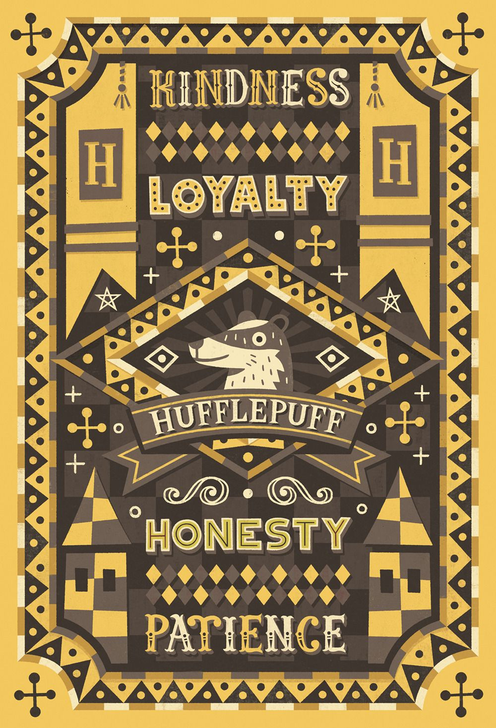 Hufflepuff Second Hogwarts House For Bcn Pottercon Finished Ravenclaw Coming Soon Harry Potter Wallpaper Harry Potter Drawings Harry Potter Art