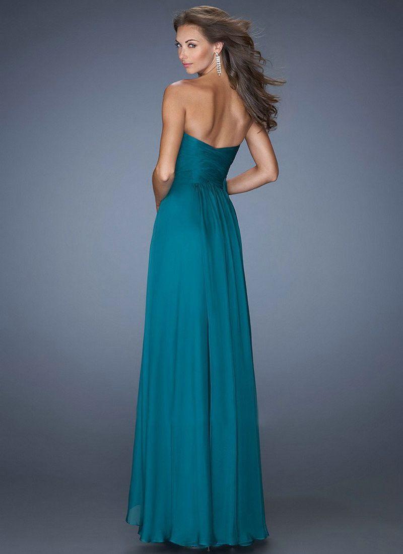 Floor length royal blue long prom bridesmaid dress bridesmaid