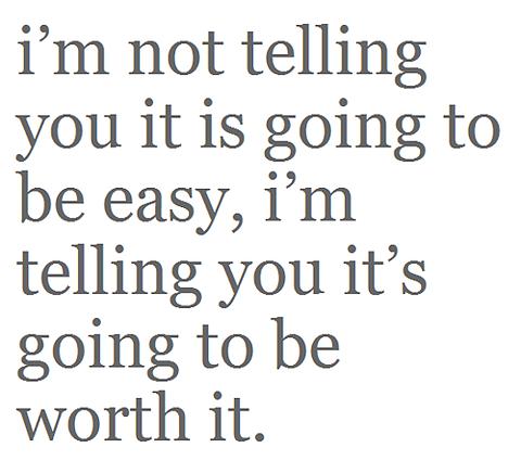 it's not easy ...