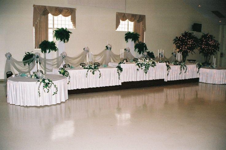 wedding reception head table setup | ... set up a wedding reception ...