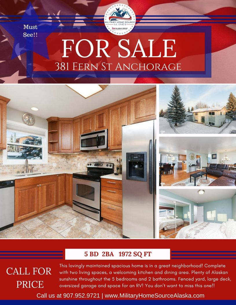 Spacious Home Is In A Great Neighborhood Forsale Realestate Anchorage Military Pcs Jber Home Fenced In Yard Dining Area