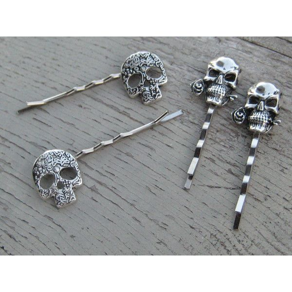 Bridal & Wedding Party Jewelry Skull Bobby Hair Pin