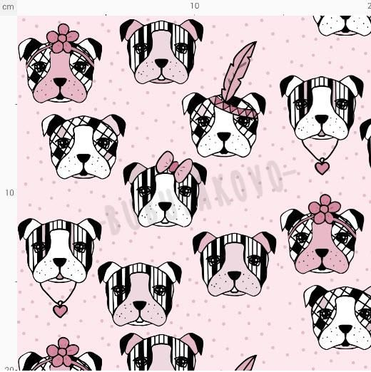 Úplet BIO MiaMea Dogs pink