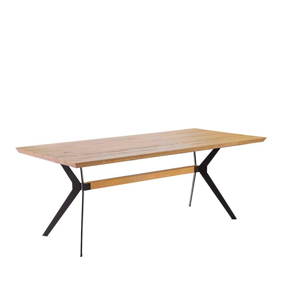 Großartig Esstisch Holz Metall Dekoration Von Esszimmertisch Im Loft Style Wildeiche Massiv Holztisch,massivholztisch,küchentisch,esszimmertisch,holztisch