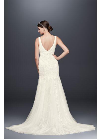 e217cc5b43977 Pearl-Beaded V-Neck Mermaid Wedding Dress CWG795 | David's Bridal ...