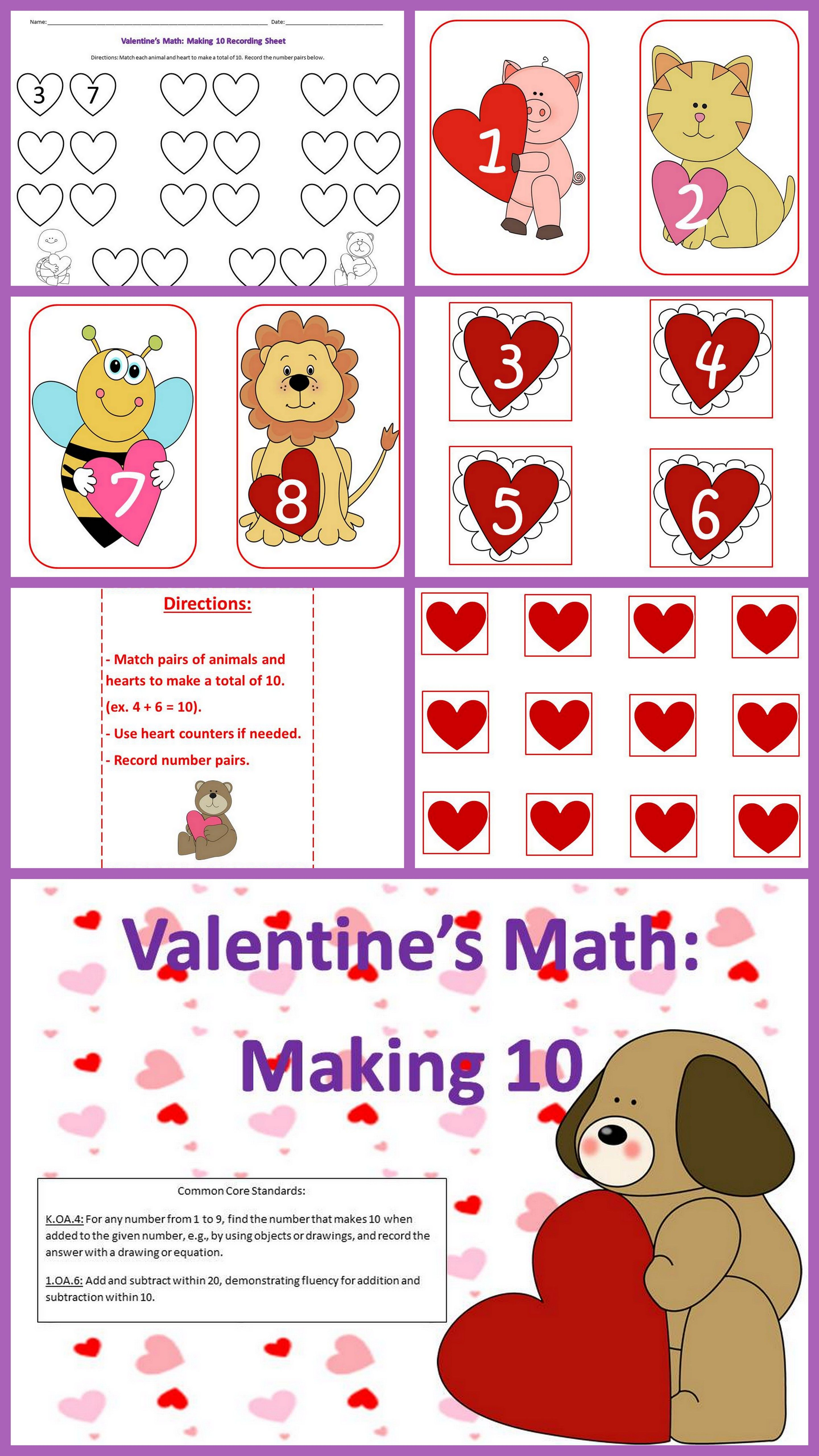 Valentine S Day Making 10 Card Game