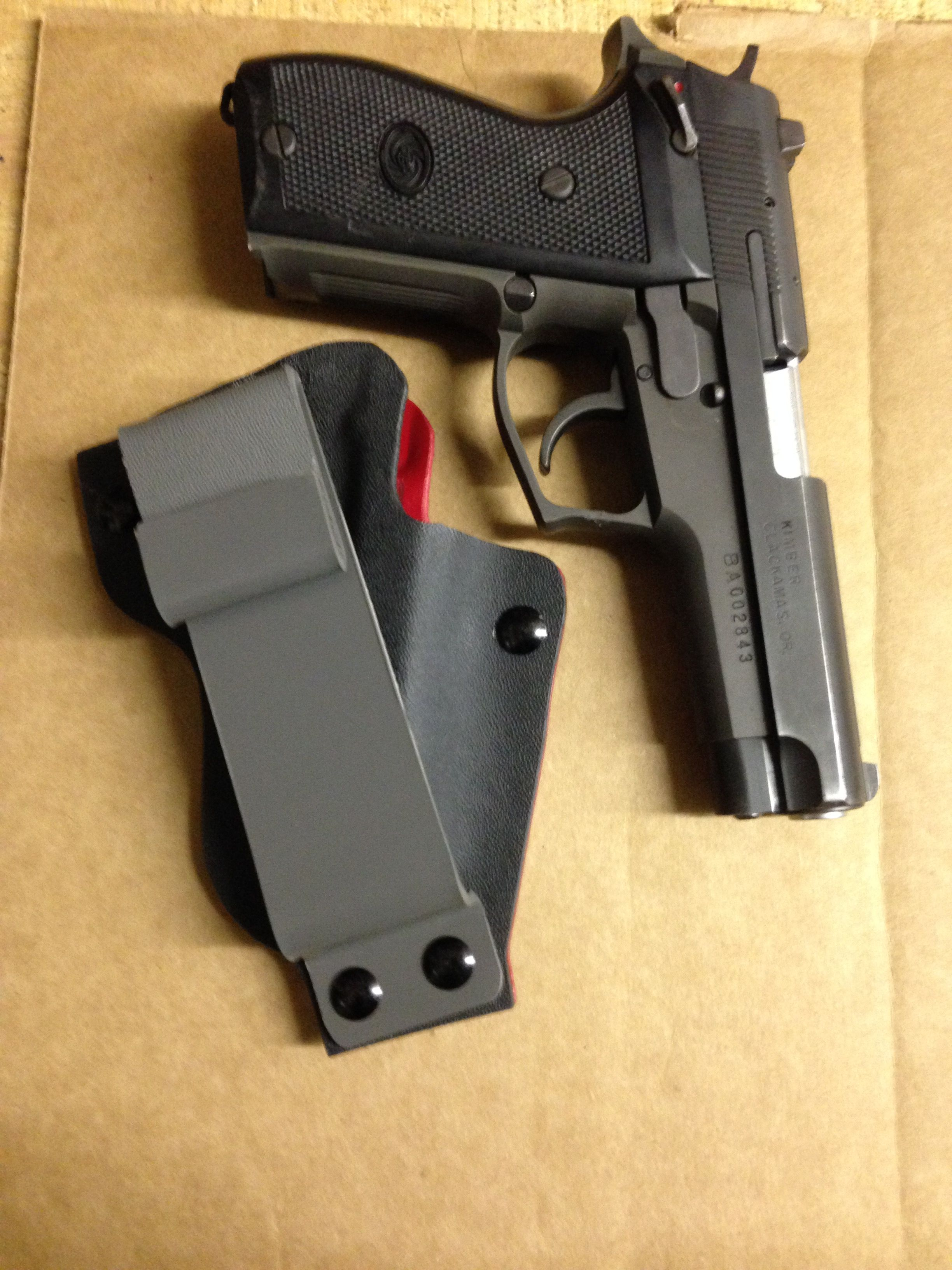 Daewoo DP-51 9mm ambidextrous IWB kydex holster I made todayLoading