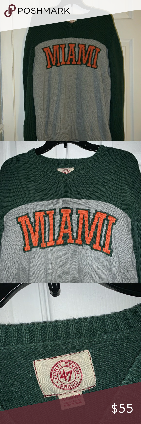 University Of Miami Knit Crewneck Excellent Condition Never Used Umiami Knit Sweater 47 Tops Clothes Design University Of Miami Crew Neck [ 1740 x 580 Pixel ]