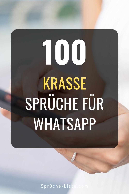 100 Krasse Sprüche für Whatsapp | Krasse sprüche, Sprüche