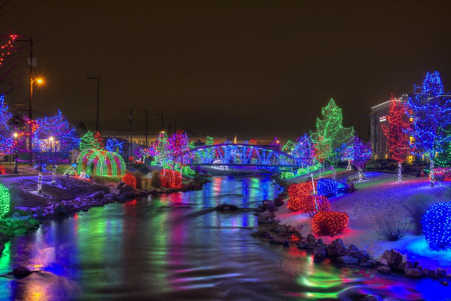 Light display in downtown Caldwell, Idaho. - Light Display In Downtown Caldwell, Idaho. Favorite Places