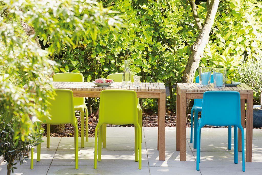 Wetterfester Stuhl Aus Polypropylen Farbe Grun Stapelbar Bis Zu