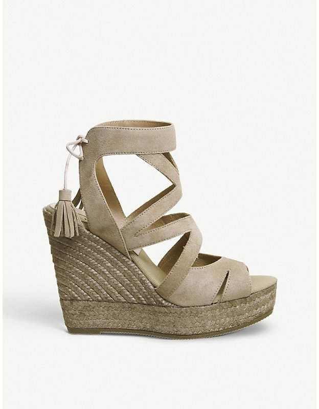 e5f52f235102 Office Kanna Berti Back Tie suede wedge sandals