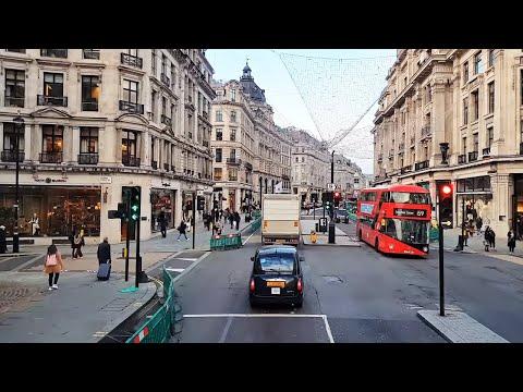 (1) London Bus Ride 2020 | Big Ben, Trafalgar Square, Regent Street - YouTube
