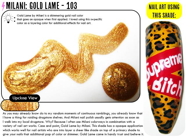 Nail Polish Review: Milani: Gold Lame – 103