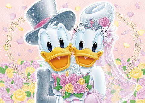 donald duck daisy duck church wedding donald duck and