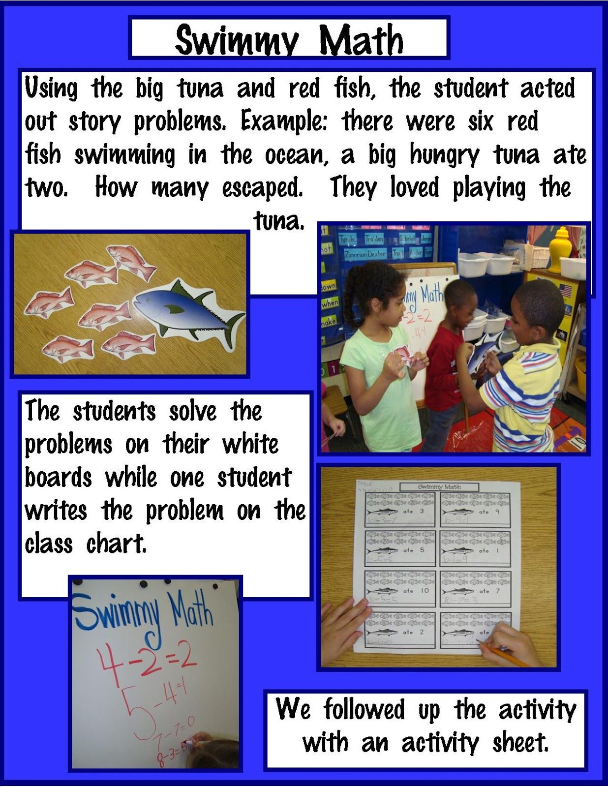 Golden Gang Kindergarten Oceans Unit Math Activities With Book Swimmy