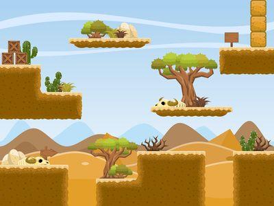 Free Desert Platformer Tileset - Game Art 2D