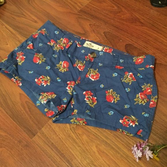 Hollister Floral Shorts These are a great pair of Hollister shorts! The fabric is thin and great for warm days! Worn once before I outgrew them. No holes, rips, or stains. Hollister Shorts
