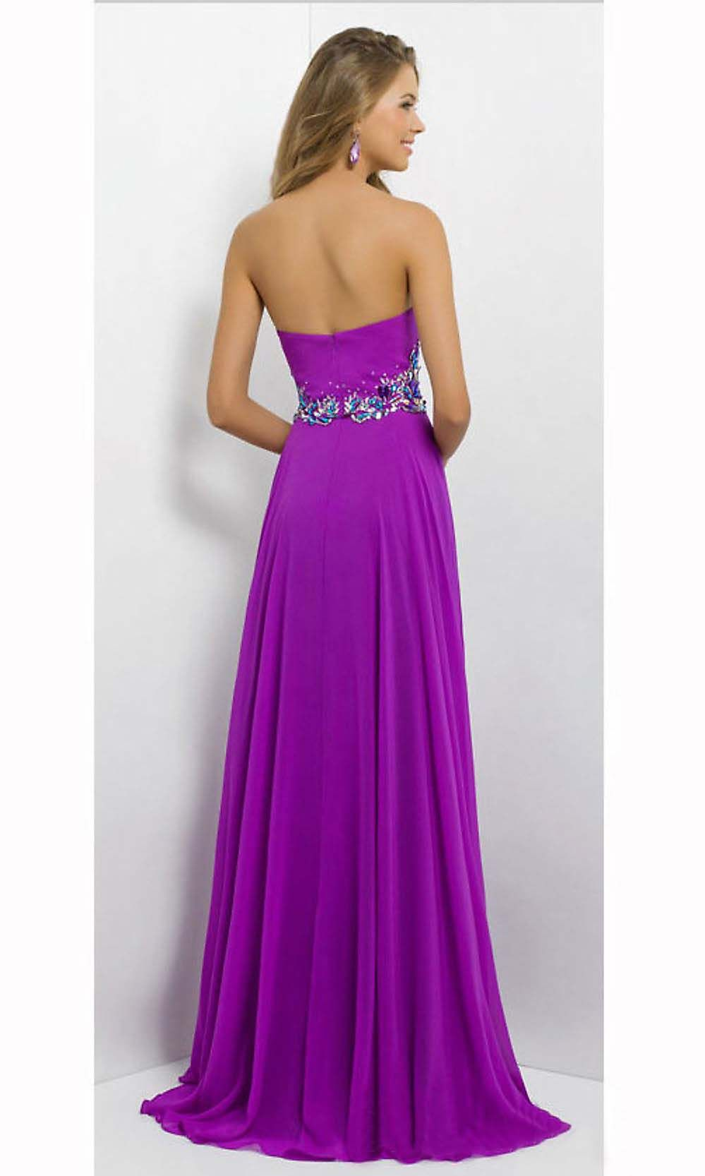 purple prom dress, long prom dress, sweetheart prom dress, elegant ...