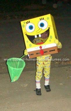 Cool Homemade Sponge Bob Square Pants Costume Sponge bob and Costumes