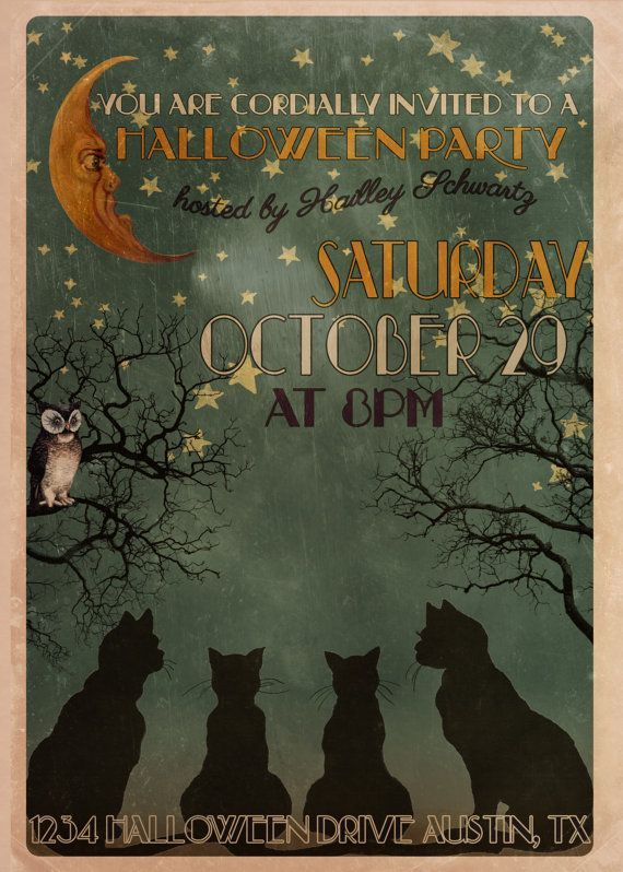 Rely On Cardsshoppe For The Latest Halloween Party Invitation