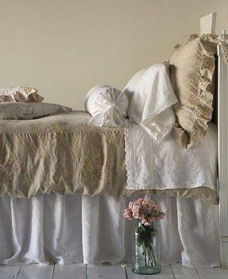 linge de lit via bella Concoctez vous un lit romantique comme celui ci grâce aux  linge de lit via bella