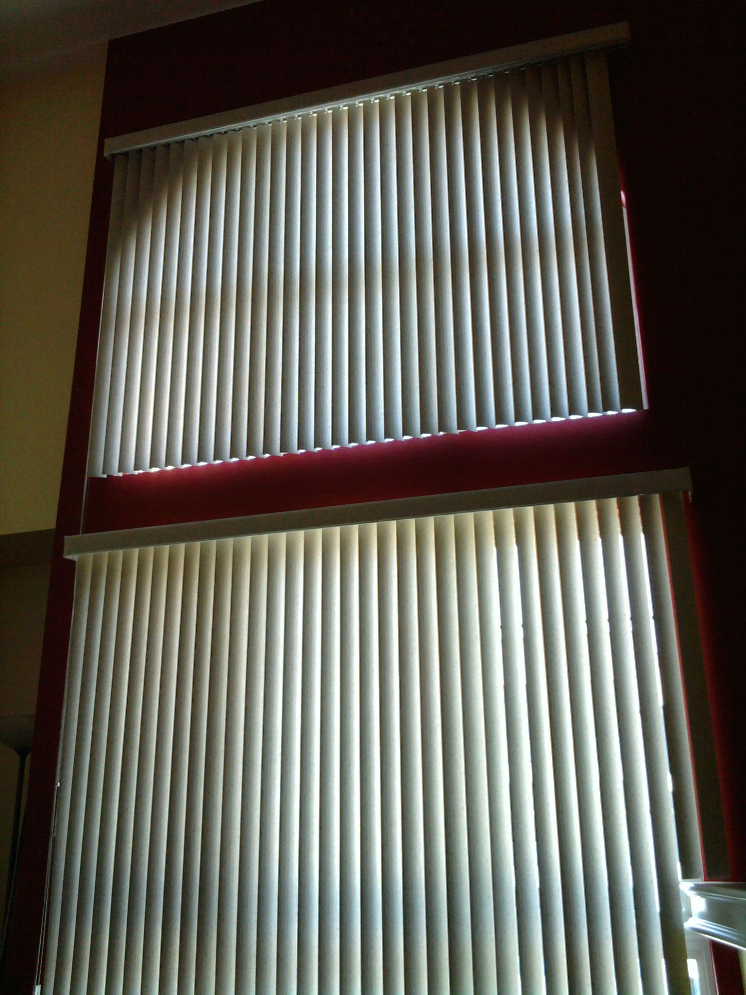 Vertical Blinds On Upper And Lower Windows