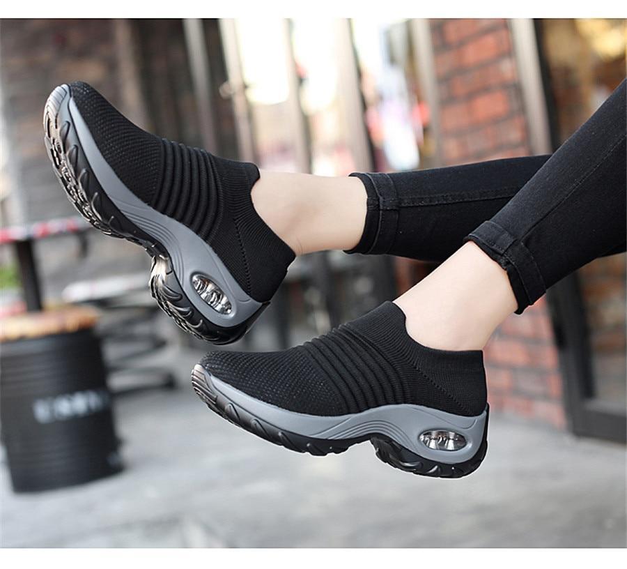 Fashion Platform Breathable Sneakers