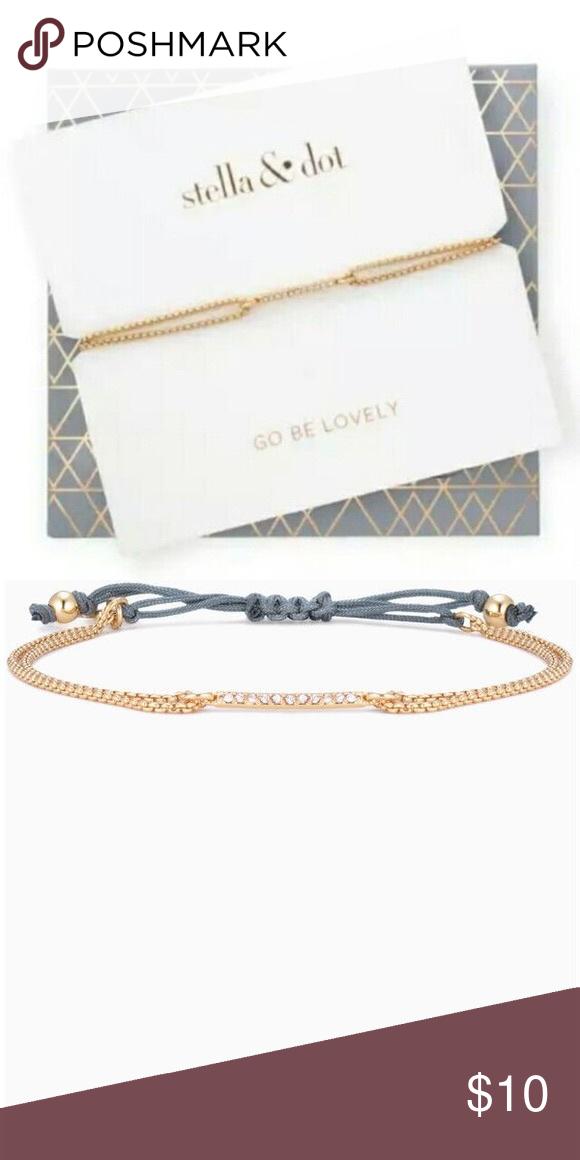 Stella Dot Pave Wishing Bracelet Gold In 2018 My Posh Closet
